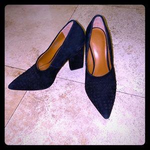 Cute suede block heels